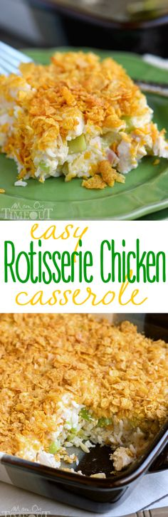 Your family is going to love this easy Rotisserie Chicken Casserole! An incredibly easy and delicious recipe, Made this last night. Not my usual dinner, but it was to hot to cook. It was a good quick go to dinner. Rotisserie Chicken Casserole Recipe, Chicken Recipes, Recipe Chicken, Chicken Rice, Dog Recipes, Beef Recipes, Ritz Chicken Casserole, Recipies, Easy Recipes