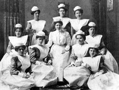 In the old, white uniform days, nurses might have looked professional, but their professional duties were very different from what they are now. Description from utmb.edu. I searched for this on bing.com/images
