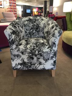 Handmade classic tub chair in Swaffer Fabric - Artemisia rose Bespoke Sofas, Old Room, Cushion Filling, Tub Chair, Sofa Bed, Cribs, Accent Chairs, British