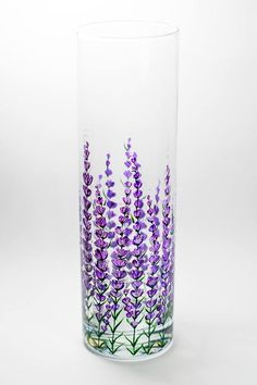 Items similar to Flower Vase Wedding, Table Centerpiece, Custom Wedding Flower Centerpieces on Etsy Painted Glass Vases, Glass Flower Vases, Flowers Vase, Wedding Vase Centerpieces, Glass Painting Designs, Bottle Art, Vases Decor, Glass Art, Wedding Table