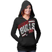 Chicago Bulls Ladies 2 Deep Hoodie - Black