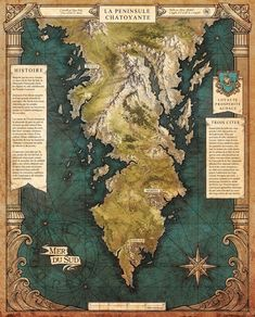 Fantasy World Map, Fantasy Places, Dream Fantasy, Fantasy Life, Imaginary Maps, Dnd Art, Fantasy Artwork, Medieval, Vintage World Maps