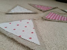 Rustic Shabby Chic Hessian Bunting by Twiddliebits on Etsy