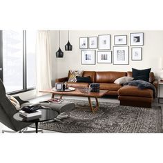 5 Ways To Style A Camel Leather Sofa