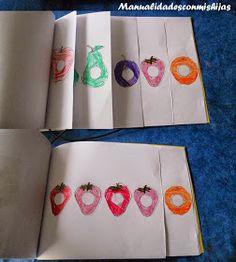 Manualidades con mis hijas: Hacemos un cuento 1: The very hungry caterpillar - 4 años