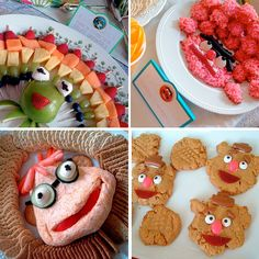 The Muppets Party Food Ideas. I had no intention of having a muppet party. Cute Food, Good Food, Yummy Food, Die Muppets, Snacks Für Party, Dessert Party, Party Printables, Printable Invitations, Free Printables