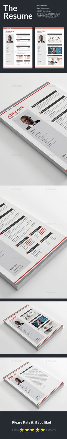 Curriculum Vitae (Resume ) Vol-01 - #Resumes #Stationery Download - television producer resume