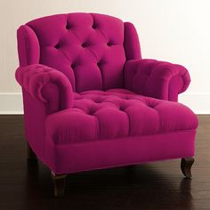Fushia Tufted Velvet Chair - Haute House Don't need to say anything.  Pink.
