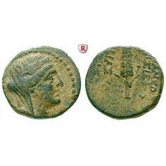Seleukis und Pieria, Apameia, Bronze 1.Jh. v.Chr., ss/f.ss: Bronze 17 mm 1.Jh. v.Chr. Verschleierter Kopf der Demeter r. mit… #coins