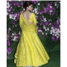 Alia Bhatt Beams With Joy as She Makes a Splash in Yellow at Akash Ambani And Shloka Mehta's Wedding - HungryBoo WhatsApp us for Purchase & Inquiry : Buy Best Designer Collection from Indian Skirt, Dress Indian Style, Indian Dresses, Sari Blouse Designs, Lehenga Designs, Indian Wedding Outfits, Indian Outfits, Mehendi Outfits, Indian Lehenga