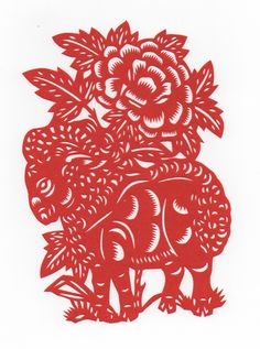 Chinese Papercut - Year of the Sheep (my birth year). Love these...think I'll print each family member's, frame and hang together.