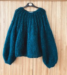 Mohair Sweater, Wool Sweaters, Crochet Wool, T Shirt Diy, Crochet Clothes, Pulls, Knitwear, To My Daughter, Knitting Patterns