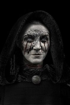 Lady Stoneheart (formerly known as Catelyn Tully-Stark) | Game of Thrones War Paint by Hilary Heffron - Hilarious Delusions___©__!!!!