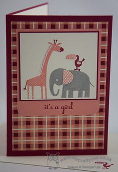 It's (Another) Girl! Zoo Babies, A Dozen Thoughts, Birthday Basics, Joanne James Stampin' Up! UK Independent Demonstrator, blog.thecraftyowl.co.uk