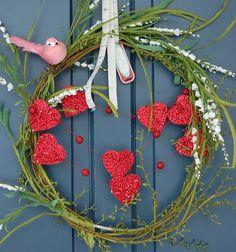 valentines day wreath.