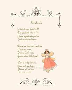 Original Fairy Poem Instant Download Image File by FairyLynne