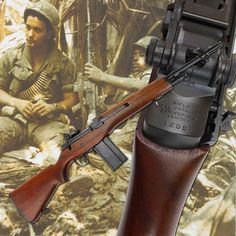 M14 RIFLE: For many of the veterans of our armed services that fought in this conflict, the 7.62mm M14 rifle, was the shoulder arm they started with; although many later carried on with the 5.56mm M16 rifle. Capable of selective fire, the US Rifle, M14, was a direct descendant of the semi-automatic M1 Garand rifle of the Second World War and Korea. Fitted with a twenty-round box magazine, the M14 was to be the last wood-stocked battle rifle issued by the US military.