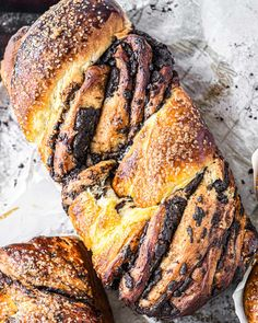 Milk Bread Style Chocolate Babka | Buttermilk By Sam Chocolate Babka, Chocolate Filling, Bread Recipes, Baking Recipes, Japanese Milk Bread, Bread Shaping, Braided Bread, Thing 1, Processed Sugar