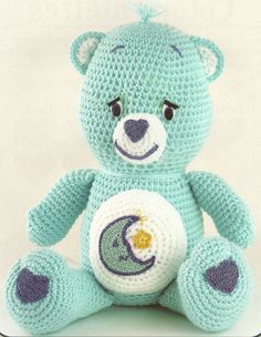 The Vintage Toy Chest: Crochet Patterns - Bed time Care Bear. Has a few other Care Bears