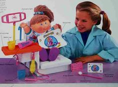Cabbage patch kid dental unit.....I got this for Christmas when I was very young. I was OBSESSED with it!