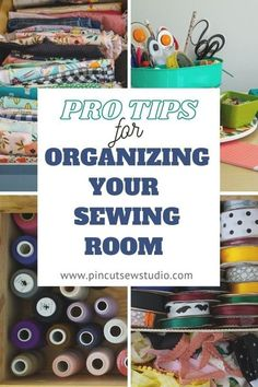 All my best tips for sewing and craft room organization! Learn how to keep your space clean, organized and clutter free, with good systems and good habits. || Pin Cut Sew Studio #sewingroom #craftroom #organization Sewing Tutorials, Sewing Projects, Sewing Tips, Sewing Hacks, Sewing Ideas, Sewing Room Organization, Organization Ideas, Storage Ideas, Quilted Coasters