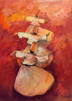 #Cemaltoy #art #dervishes