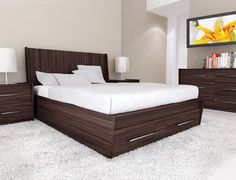 [ Bedroom Interior Design Ideas Wooden Double Bed Designs For Homes Modern With White Leather Home ] - Best Free Home Design Idea & Inspiration Wood Bedroom Sets, Bedroom Bed Design, Bedroom Furniture Sets, Bed Furniture, Bedroom Decor, Furniture Ideas, Bedroom Ideas, Furniture Design, Mission Furniture
