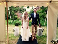 Our beautiful bride and groom looking fantastic at their wedding!  www.abbasmarquees.co.uk