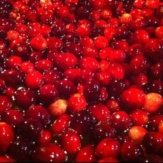 Cranberries just starting to cook.
