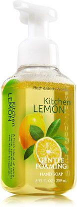 Kitchen Lemon Gentle Foaming Hand Soap - Anti-Bacterial - Bath & Body Works