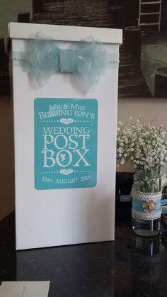 Wedding post box.... £1.99 postbox from Range..decorated myself