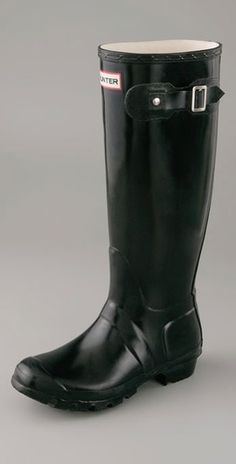 #hunter_boots original wellington rain boots $125