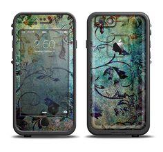 The Grungy Dark Black Branch Pattern Apple iPhone 6/6s Plus LifeProof Fre Case Skin Set from DesignSkinz