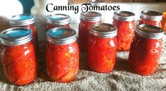 Young Mom's Home: Freezing & Canning Vegetables (Tomatoes)