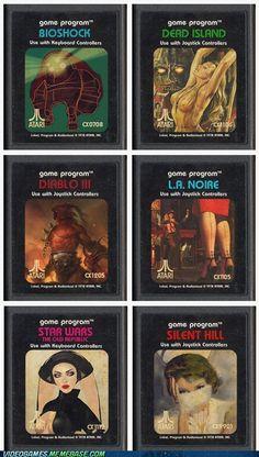 Retro Cartridges For Contemporary Games ugh!!! Awesome!!!!
