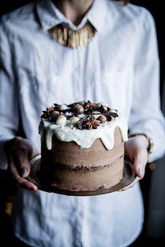 Kávová sviatočná torta - The Story of a Cake Cake Recipes, Dessert Recipes, Desserts, Devils Food, Love Cake, Saveur, Celebration Cakes, Christmas Baking, Coffee Cake