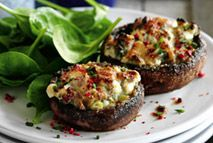 Cheesy garlic and herb stuffed mushrooms - Recipes - Slimming World