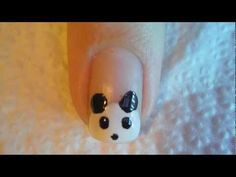 Uñas De Oso Panda // Nails panda - YouTube