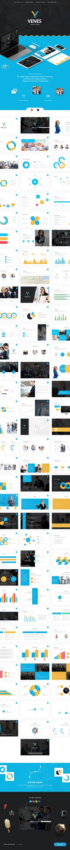Venes – Multipurpose powerpoint template, ideal match for business or creative presentations. We offer over 3200 presentation slides, with great professional design and creative ideas.  Our presentation template is simple, easily customizable, and features free support and updates. Impress your audience with this animated PPT Template!   Purchase it now only for 13$!    Author site: http://Grooni.com  #powerpoint #presentation #template #graphicriver #free #business