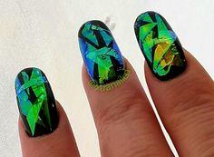 Nails, gel nails, Mylar, Mylar nails, nail art