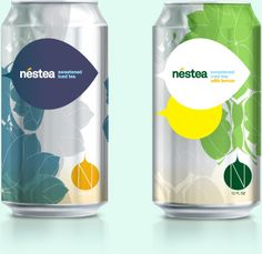 Letters & Numbers - Nestea: Love these can designs for Nestea by Letters & Numbers.