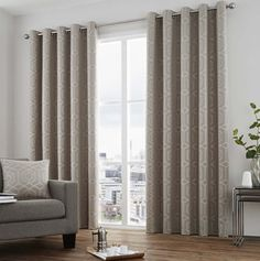 Camberwell Eyelet Room Darkening Curtains Hazelwood Home Decor, Made To Measure Blinds, Curtains, Room Layout, How To Make Curtains, Lined Curtains, Contemporary Room, Home Decor, Hanging Curtains