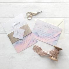 Wedding Invitation Trends for 2017 | Marble & gold modern wedding invitation suite