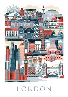 "Check out this @Behance project: ""Illustrated Poster of London"" https://www.behance.net/gallery/41136485/Illustrated-Poster-of-London"