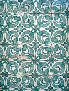 Tiles on the building wall, Lisbon, Portugal