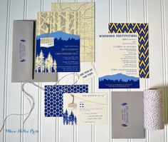 My chairlift mountain invitation collections have been so popular, with inspiration from a client, I have incorporated a mountain backdrop and