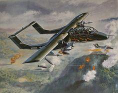 Roy Cross - NA OV10 Bronco Air Vietnam, Vietnam War, Airplane Fighter, Airplane Art, Military Photos, Military Art, Ov 10, Nose Art, Aviation Art
