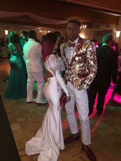 Unique Prom Suits, Prom Suits For Men, Prom Outfits, Prom Dresses, Formal Dresses, Prom Suit And Dress, Prom Goals, Prom Couples, Church Fashion