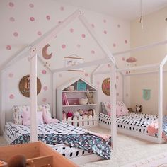 Shared Sister Room is part of Shared girls room - Sister Bedroom, Girls Bedroom, Bedroom Ideas, Twin Girl Bedrooms, Childs Bedroom, Sibling Room, Toddler Floor Bed, Montessori Bedroom, Shared Bedrooms