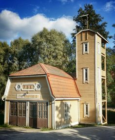 The old fire station in Fiskars, Finland Helsinki, Places Around The World, Around The Worlds, Beautiful Homes, Beautiful Places, Scandinavian Countries, Firefighting, Nordic Design, Gouache